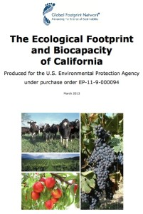 Global Footprint Network's Ecological Footprint of California
